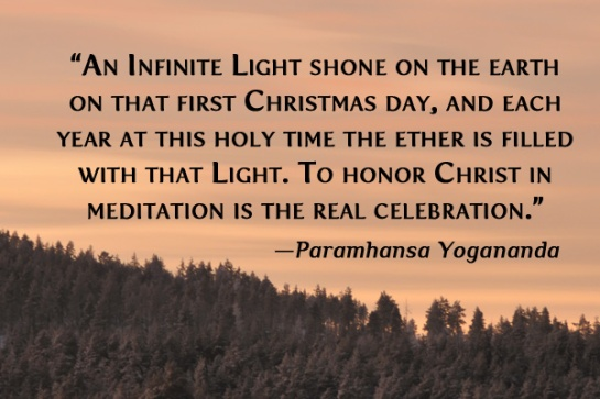 yogananda christmas quote