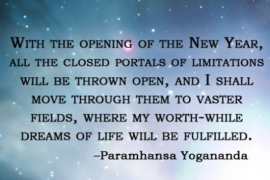 Yogananda quote - new year