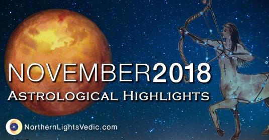 Vedic Astrology November 2018